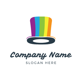 Colorful Stripe and Magic Hat logo design