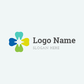 Colorful Tooth Vector logo design