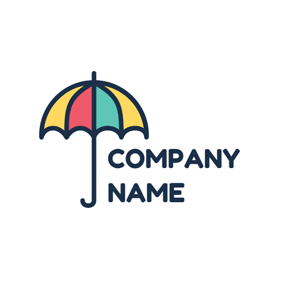 Colorful Umbrella and Daycare logo design