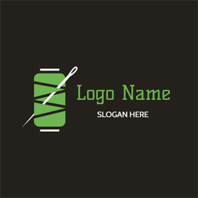 Columniform Bobbin and Needle logo design