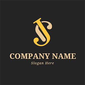 Combination Overlap Letter J S logo design