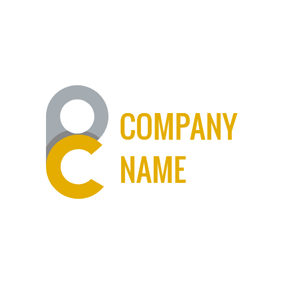 Conjoint Simple Letter P and C logo design