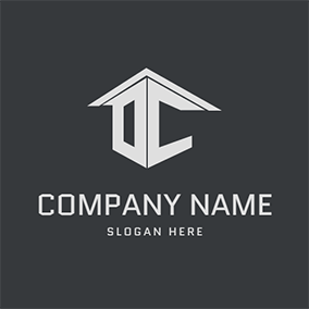 Construction Modern Letter D C logo design