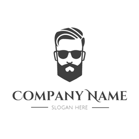 Cool Glasses and Hipster Head logo design