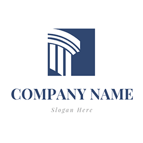 Court Building and Lawyer logo design