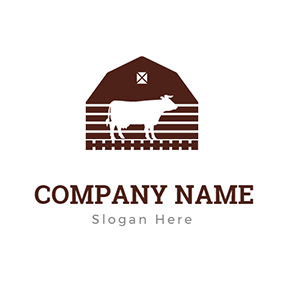 Cow and Barn logo design