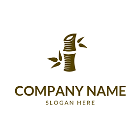 Creative Bamboo Leaf and Joint logo design