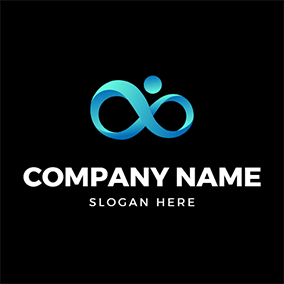 Creative Human Infinite Sign logo design