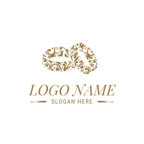 Double Diamond Rings Creative And Wedding Logo Design