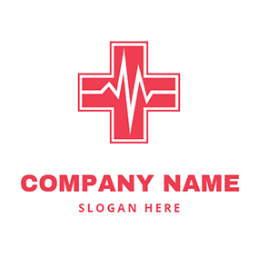 Cross and Pulse Logo logo design