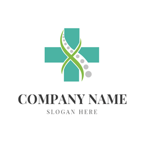 Cross and Vertebral Column logo design