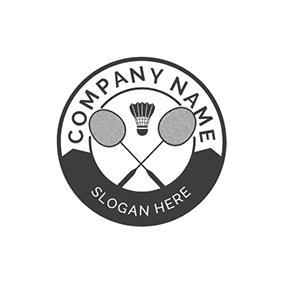 Free Badminton Logo Designs Designevo Maker Cross Bat Tennis Design