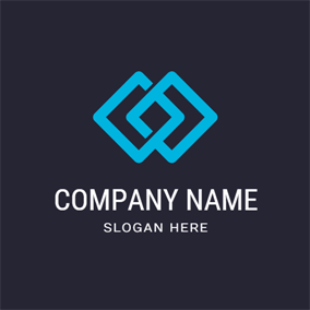 Cross Blue Square and Fusion logo design
