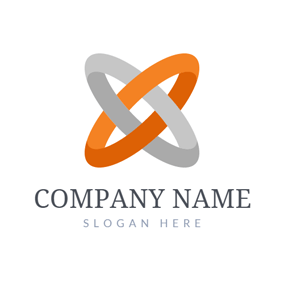 Cross Orange and Gray Circle logo design