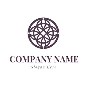 Crossed Circle and Dreamcatcher logo design
