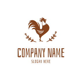 Crowing Cock and Farm logo design