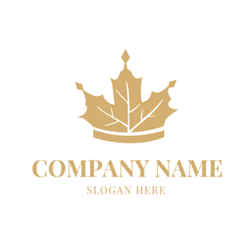 Crown and Maple Leaf logo design