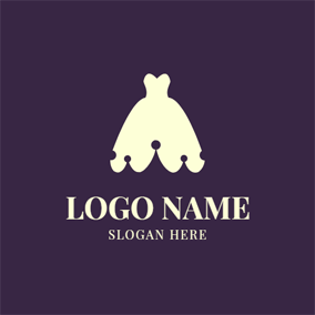Crown and Wedding Dress logo design