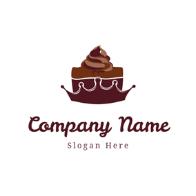 Crown Shape and Brownie logo design