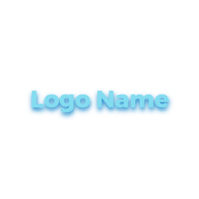 Cute and Mellow Blue Cool Text logo design