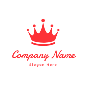 Cute and Purely Red Crown logo design