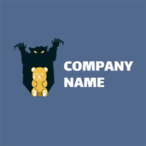 Cute Bear and Jelly logo design
