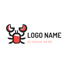 Cute Cartoon Crab Icon logo design