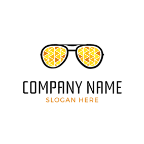 Cute Cartoon Sunglasses logo design