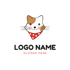 Cute Cat and Anime logo design