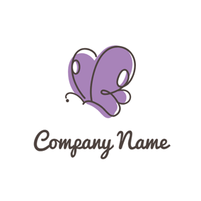 Cute Fly Butterfly logo design