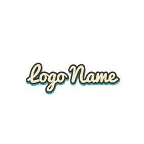 Italic Shadowy Pink Wordart Cute Khaki Handwritten Font Style Logo Design