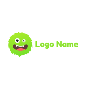 Cute Monster Head logo design