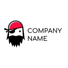 Cute Moustache and Pirates logo design