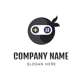 Cute Ninja Head Icon logo design