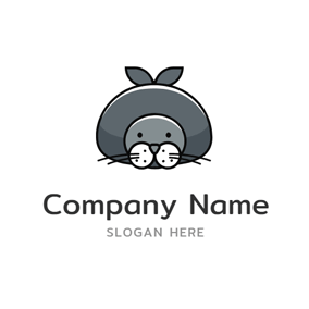 Cute Sea Seal Icon logo design