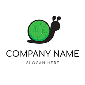 Cute Snail and Clime logo design