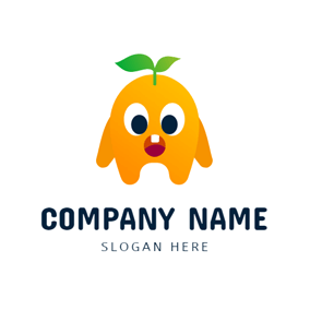 Cute Yellow Monster logo design