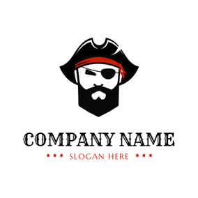 Cyclopia and Pirates Head logo design