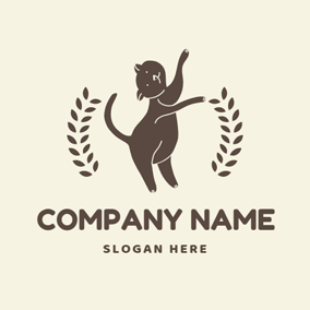Dancing Chocolate Cat logo design