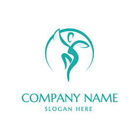 Dancing Woman and Zumba logo design