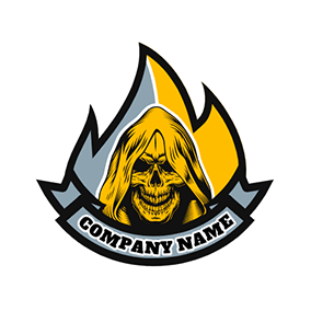 Death Fire Banner Gang logo design