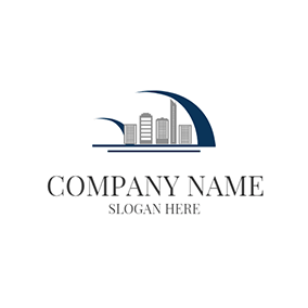 Decoration and Gray Office Building logo design