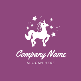 Decoration and Little Unicorn logo design