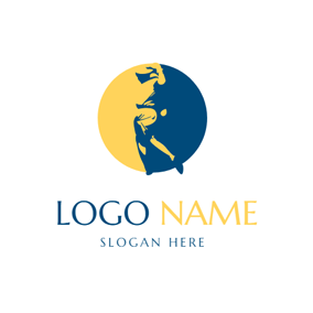 Decoration Circle and Golf Ball logo design