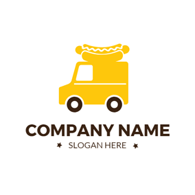 Delicious Hot Dog and Food Truck logo design