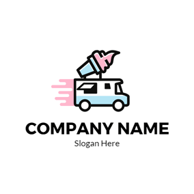 Delicious Ice Cream and Food Truck logo design