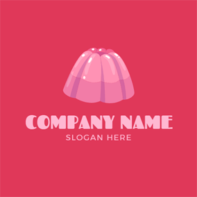 Delicious Pink Jelly logo design