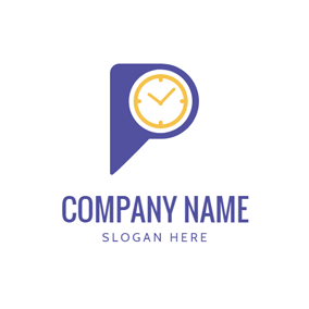 Dial Plate and Triangle Icon logo design