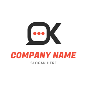 Dialog Box and Ok logo design