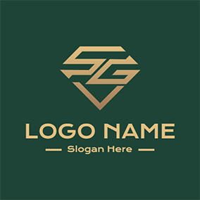Diamond Abstract Letter S G logo design